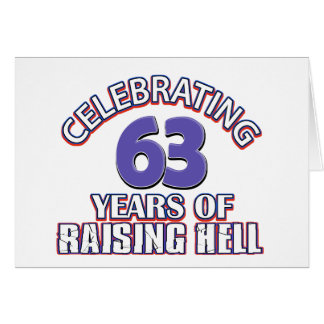 63 birthday Designs Card
