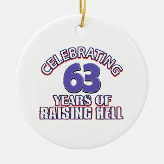 63 birthday Designs Ceramic Ornament