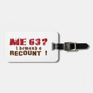 63 Birthday Designs Tag For Bags