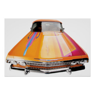 63 Chevy Impala Convertable Lowrider Poster
