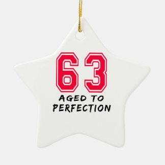 63 envejeció al diseño del cumpleaños de la perfec ornamente de reyes