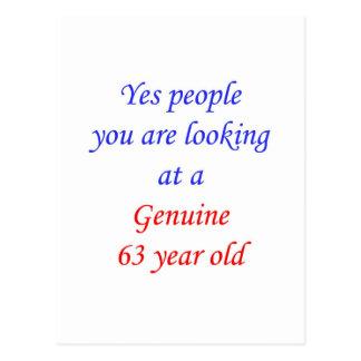 63  Genuine 63 Year Old Postcard