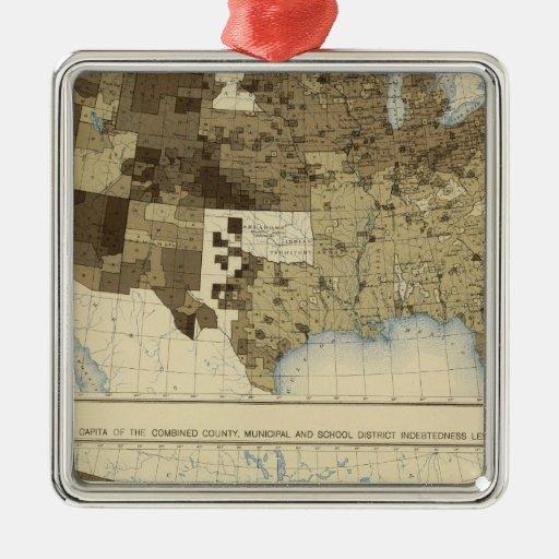 63 impuestos, endeudamiento 1890 ornamento de navidad