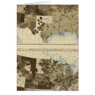63 impuestos, endeudamiento 1890 tarjeta de felicitación