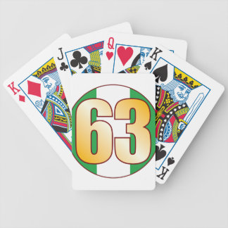 63 NIGERIA Gold Bicycle Playing Cards