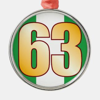 63 NIGERIA Gold Metal Ornament