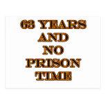 63 ninguna hora de prisión tarjeta postal