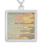 63 Proportion leading nationality by states Square Pendant Necklace