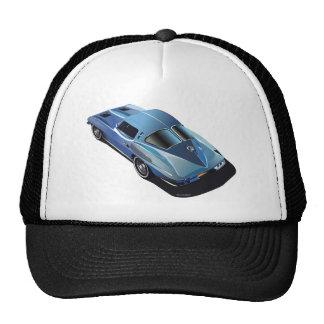 63_Split Window_Blue Trucker Hat