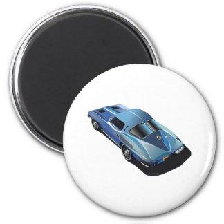 63_Split Window_Blue 2 Inch Round Magnet