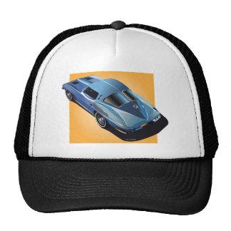 63_Split Window_BlueYellow Box Trucker Hat