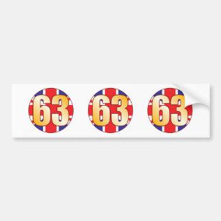 63 UK Gold Bumper Sticker
