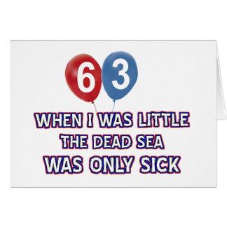 63 year old dead sea birthday designs card