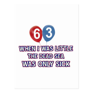 63 year old dead sea birthday designs postcard