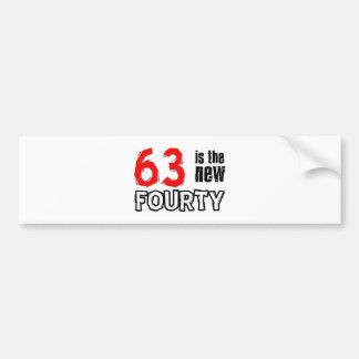 63 year old designs bumper sticker