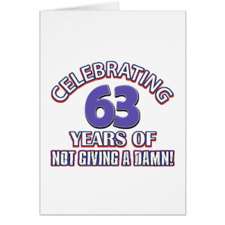 63 year old designs card