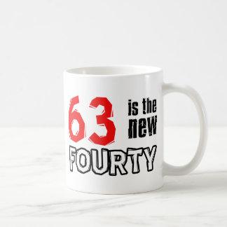 63 year old designs coffee mug