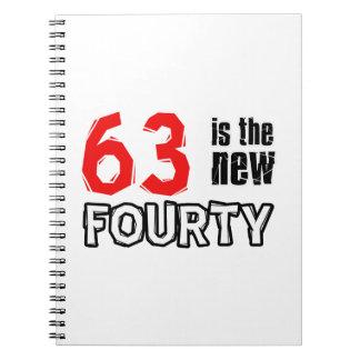 63 year old designs spiral notebook