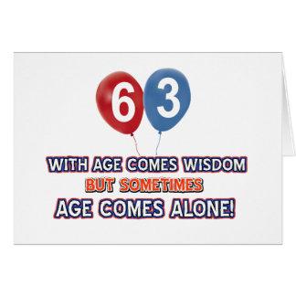 63 year old wisdom birthday designs card