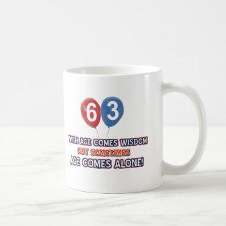 63 year old wisdom birthday designs coffee mug