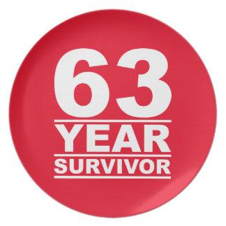 63 year survivor melamine plate