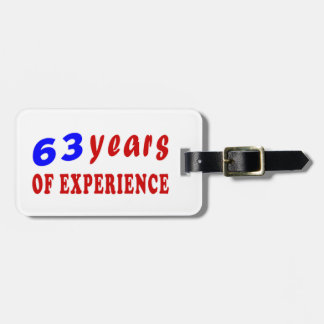 63 years of experience tag for luggage