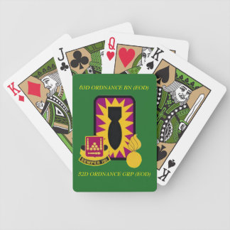 63D ORDNANCE BATTALION (EOD) PLAYING CARDS