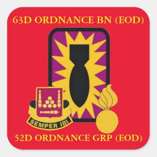 63D ORDNANCE BATTALION (EOD) STICKERS