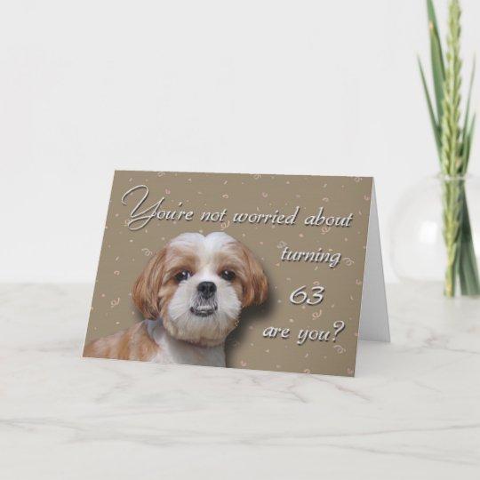 63rd Birthday Dog Card Zazzle