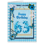 63rd Birthday with a scrapbook effect Greeting Card