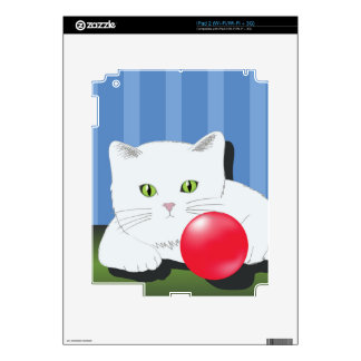 63White Cat_rasterized Decal For The iPad 2