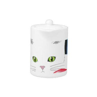 63White Cat_rasterized Teapot