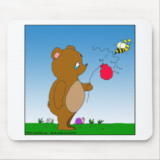 643 bee pops bears balloon cartoon mouse pad