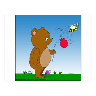 643 bee pops bears balloon cartoon postcard