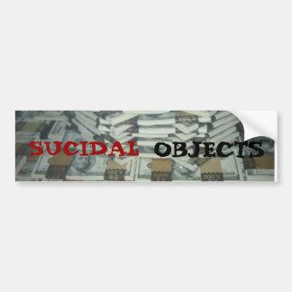 64563416_49b9663a15, OBJECTS, SUCIDAL Bumper Sticker