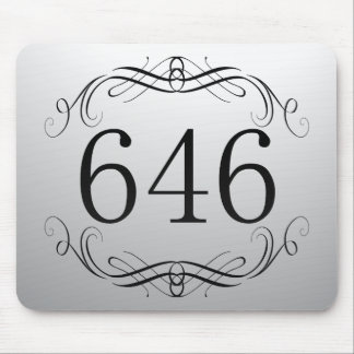 646 Area Code Mouse Pads