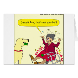 648 thats not your ball cartoon greeting card