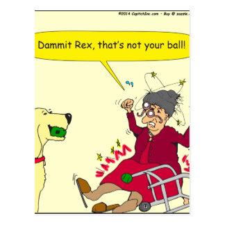 648 thats not your ball cartoon postcard