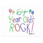 ¡64 años de la roca! postales