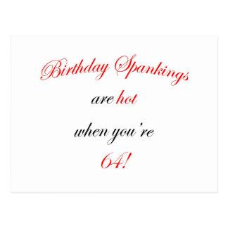 64 Birthday Spanking Postcard