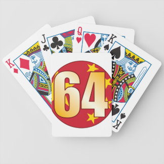 64 CHINA Gold Bicycle Playing Cards