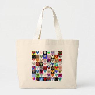 64 corazones en un bolso bolsa de mano