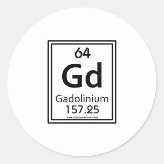64 Gadolinium Classic Round Sticker