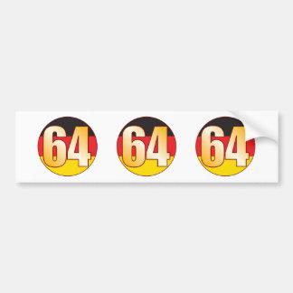 64 GERMANY Gold Bumper Sticker