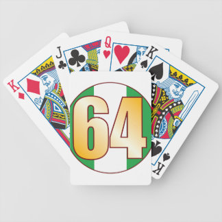 64 NIGERIA Gold Bicycle Playing Cards