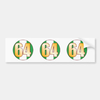 64 NIGERIA Gold Bumper Sticker