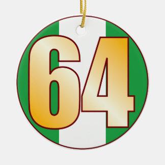 64 NIGERIA Gold Ceramic Ornament