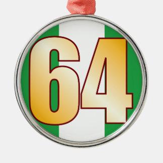 64 NIGERIA Gold Metal Ornament