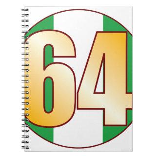 64 NIGERIA Gold Spiral Notebook