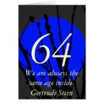 64.o Cumpleaños Tarjetas